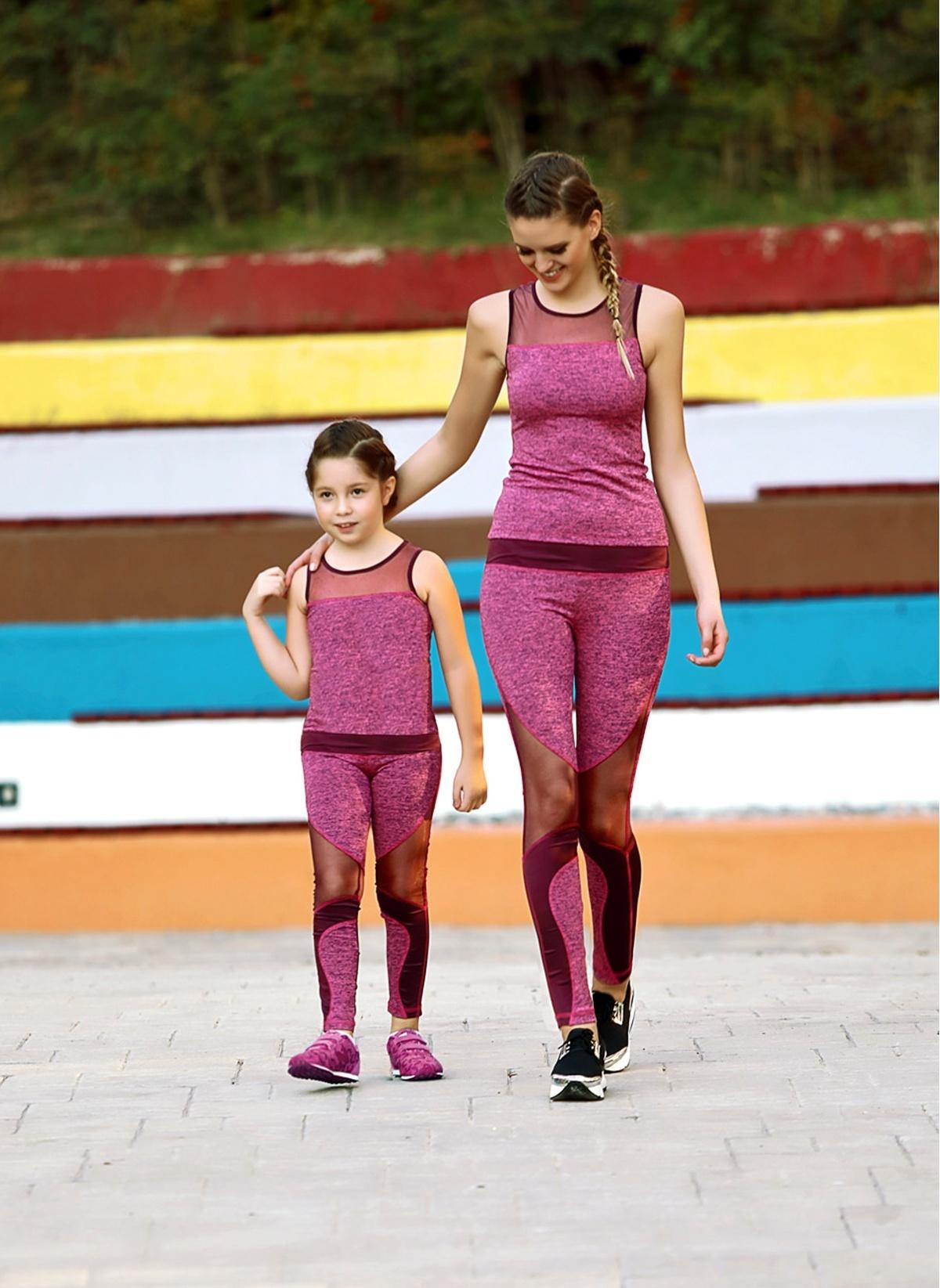 Lingabooms 2 Li Takım Mgp9344 Kadın Pembe Kadın Atlet Tayt Ta – 129.9 TL